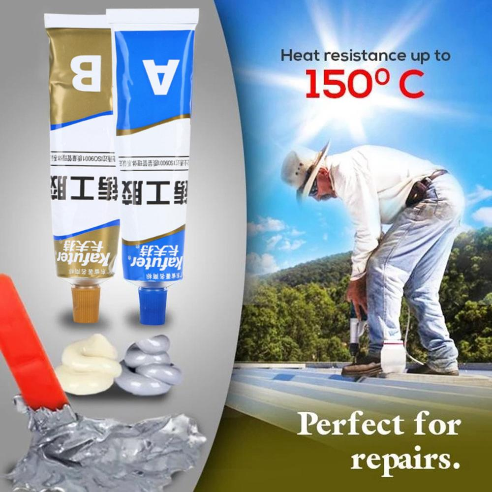2Pcs Metal Glue Industrial Heat Resistance Cold Weld Metal Repair Paste A&B Adhesive Gel Sealant Quick-drying Glue