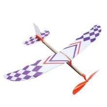 Резиновая лента с питанием планер летающий самолет модель самолета DIY сборная игрушка детский подарок DXAD