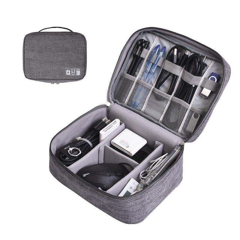 Bolsas de almacenamiento Digital portátil organizador USB Gadgets Cables cargador batería cremallera bolsa de cosméticos accesorios artículo