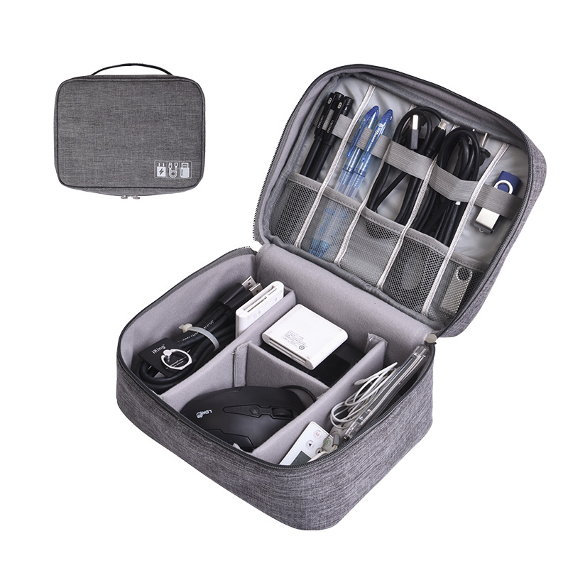 Portable Digital Storage Bags Organizer USB Gadgets Cables Wires Charger Power Battery Zipper Cosmetic Bag Case Accessories Item