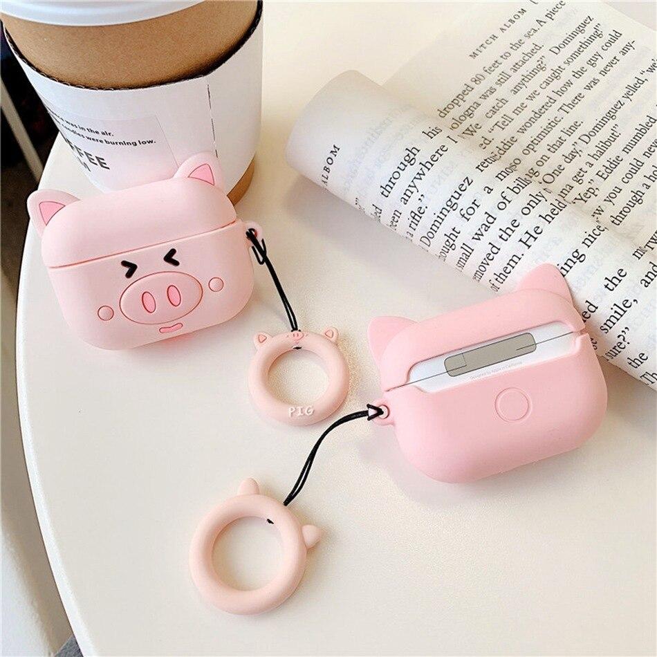 For Airpods Pro Case 3d Cute Cat Pig Duck Kawaii Anime Cartoon