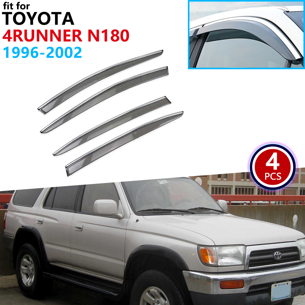 For Toyota 4Runner Hilux Surf SW4 1996~2002 N180 Window Visor Vent Awnings Rain Guard Deflector Shelters Cover Accessories 1997