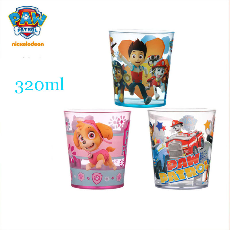 PAW PATROL cute Cup 320ML Genuine Kids Tritan Puppy Patrol chase ryder everest apollo tracker skye spoon Children toy Gifts|Vacuum Flasks & Thermoses| |  - title=