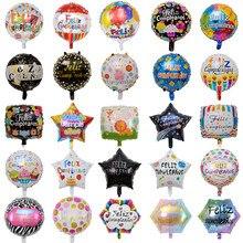 10 pçs 18 polegada novo espanhol balões feliz cumpleaños balões globo feliz aniversário decoração rosa ouro redondo balões de folha de hélio