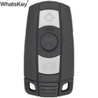 WhatsKey Top Qualität 3 Taste Remote Auto Schlüssel Shell Für BMW 1 3 5 6 Serie E91 E92 E60 E90 smart Card Schlüssel Abdeckung Fob Fall