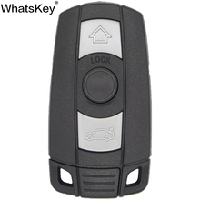 WhatsKey Top Quality 3 Button Remote Car Key Shell For BMW 1 5 6 Series E91 E92 E60 E90 Smart Card Cover Fob Case