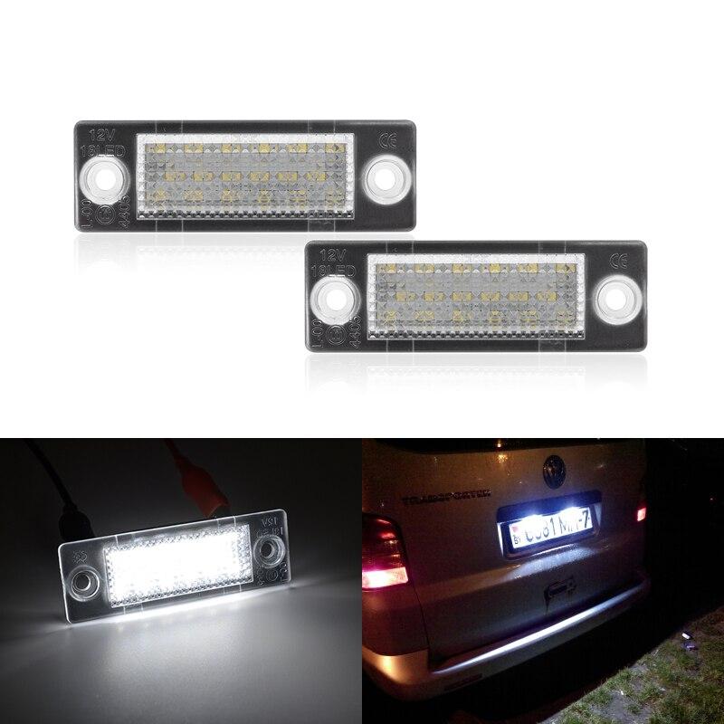 Светодиодные номерные знаки светильник для VW Caddy 3 Golf 5 плюс Jetta 5 Passat B5.5 B6 Wagon Touran транспортер T5 авто-Стайлинг светодиодные лампы