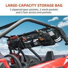 Czarny Quad Gear UTV duża rolka klatka organizator torba do przechowywania dla Polaris RZR Ranger dla Can-am maverick dowódca dla Yamaha