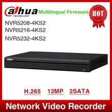 אקספרס חינם Dahua NVR5208 4KS2 NVR5216 4KS2 NVR5232 4KS2 16/32CH 1U 4K & H.265 פרו רשת וידאו מקליט 12MP מלא HD 2SATA