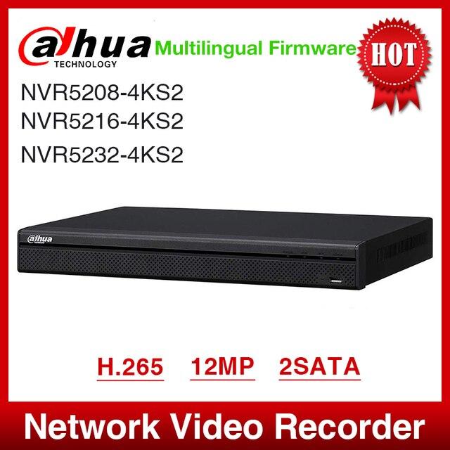 Vận Chuyển Nhanh Dahua NVR5208 4KS2 NVR5216 4KS2 NVR5232 4KS2 16/32CH 1U 4K & H.265 Pro Mạng Ghi 12MP Full HD 2SATA