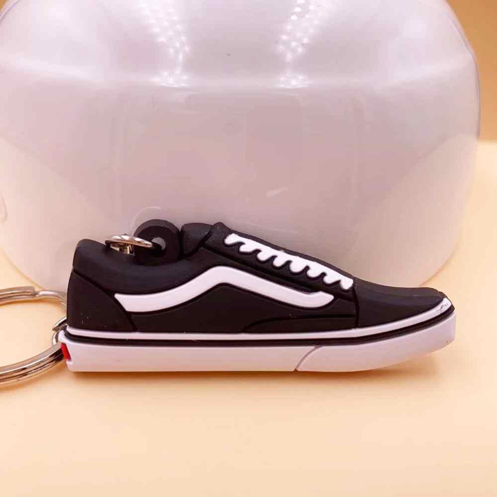 พวงกุญแจมินิซิลิโคน JORDAN รองเท้า Key CHAIN ผู้หญิงผู้ชายเด็กของขวัญแหวนบาสเกตบอลรองเท้าผ้าใบ Porte Clef