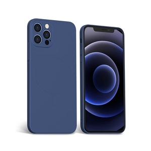 Image 3 - נוזל סיליקון מגנטי טלפון מקרה עבור iPhone 12 מיני 12 Max Pro Magsafe מקרה תמיכה אלחוטי טעינה זרוק הגנת כיסוי