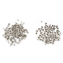 100 x Studs Rivet Color Silver For Shoes Hats 9mm(China)