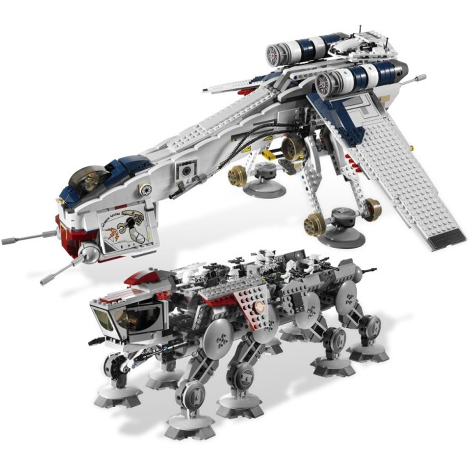 05053 1788Pcs Genuine Star Was Republic Dropship with AT-OT Walker Set Building Blocks Bricks Compatible Lepining <font><b>10195</b></font> toys image