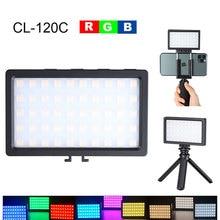 Luz de led rgb 3200k 5600k para filmagem, mini luz de preenchimento, bateria embutida para câmera de celular, tiro acessórios para estúdio de fotografia,