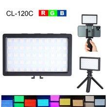 Светодиодный светильник RGB 3200K 5600K для видеосъемки, встроенный аккумулятор, мини светильник для фотосъемки, аксессуары для фотостудии