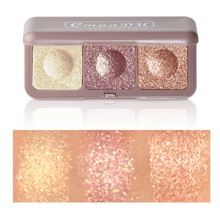 Glitter Eyeshadow Palette Eye Shadow Palette Shine Polarize Eyeshadow Sparkling Pigment 3 Color недорого