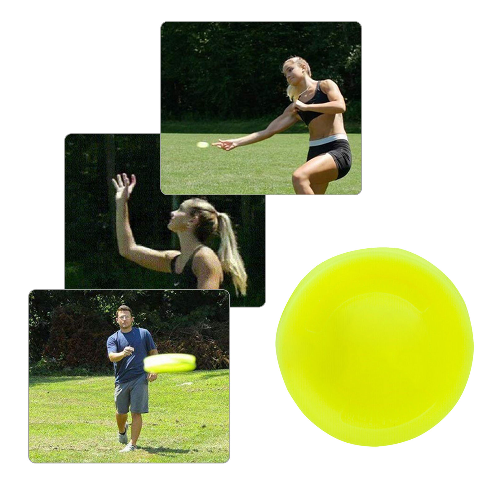 Yellow Color Mini Pocket Flexible Flying Discs Can Choose Soft New Spin In Catching Game Flying Disc Beach Entertainment Toys