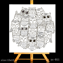 ZhuoAng Silly owl Clear Stamps/Card Making Holiday decorations For  scrapbooking Transparent stamps 13*13cm silly chemnitz