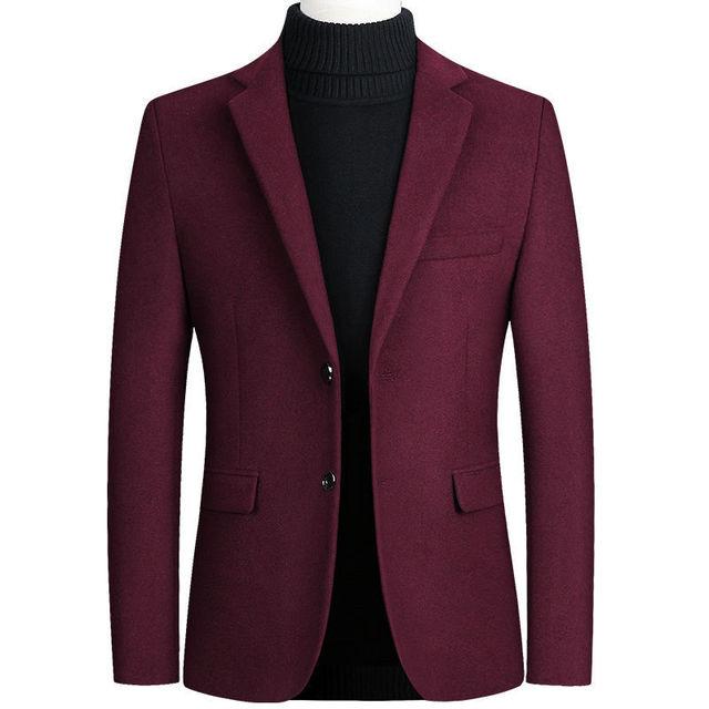Шерстяной мужской пиджак из качественного материала фирменный Favocent 3