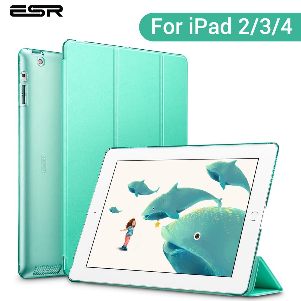 ESR Smart Case for iPad 2 3 4 Cover PU Leather Auto Sleep/ Wake Up Folio for iPad 2 3 4 Trifold Stand Brand Shockproof Case image