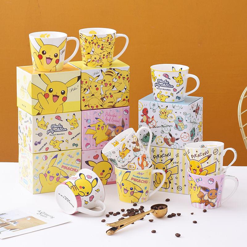 280ml Cartoon Keramik Kaffee becher Hause Frühstück Milch Wasser Tasse Kreative Nette Kinder Geschenk Tasse Mit Farbe Box Löffel bahn