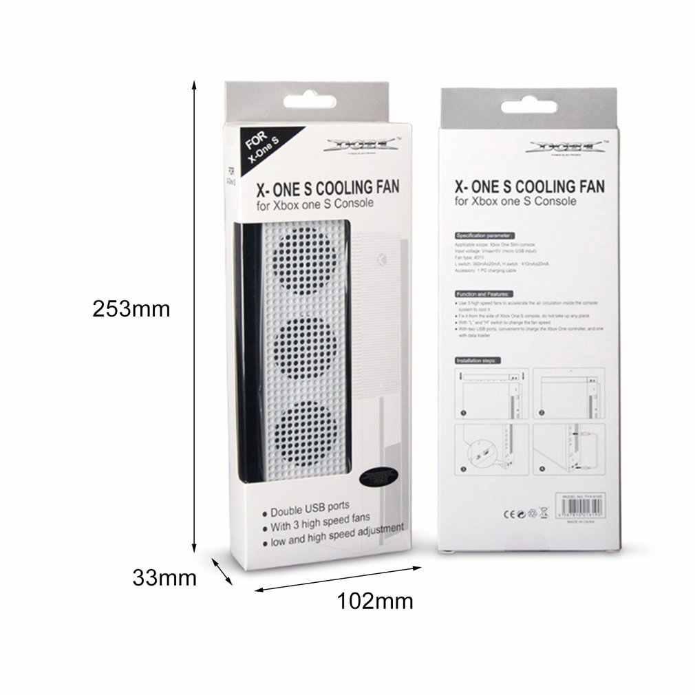 Охлаждающий вентилятор для Xbox One S с 2 usb-портами и 3 H/L регулировкой скорости Охлаждающие вентиляторы кулер для Xbox One Slim Игровая консоль