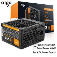 GO fuente de alimentación para PC, 650W, 80PLUS, fuente de alimentación certificada, Juegos de PC Max, 850W, para ordenador, 12V, 120mm, ventilador de refrigeración