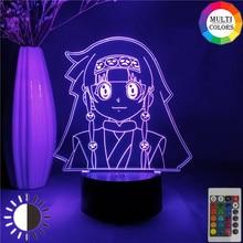 Anime hunter x hunter alluka zoldyck aruka figura luz da noite presente para o miúdo casa decoração do quarto led 3d mangá estatueta lâmpada de mesa