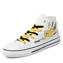2020 Canvas Shoes For Men Causal High Heel Lace Up Spring Me