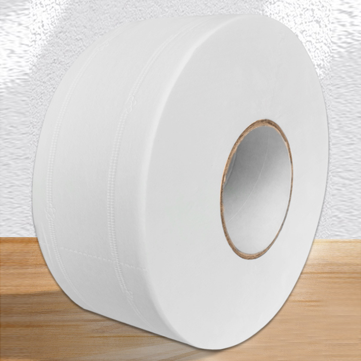 1 Roll Top Quality Jumbo Roll Toilet Paper 4-Layer Native Wood Soft Toilet Paper Pulp Home Rolling Paper Strong Water Absorption 3