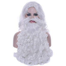 Santa Claus Wig Beard Long White Fancy Dress Costume Accessory for Christmas Party TN88 цена