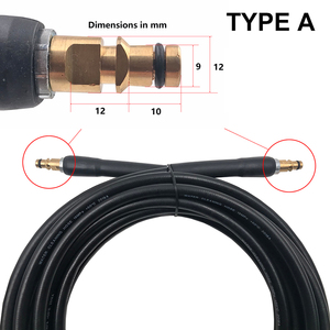 Image 2 - 6 8 10 15 Meters Quick Connect  With Car Washer Extension Hose Gun High Pressure Washer Hose Working For Karcher K series