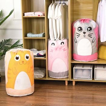 Nowa torba do przechowywania Peva ubrania bawełniany koc narzuta torba do przechowywania w szafie niedźwiedź duży Organizer pojemnik torba do przechowywania zabawek tanie i dobre opinie CN (pochodzenie) Quilt Clothing Finishing Bag Pet + pe