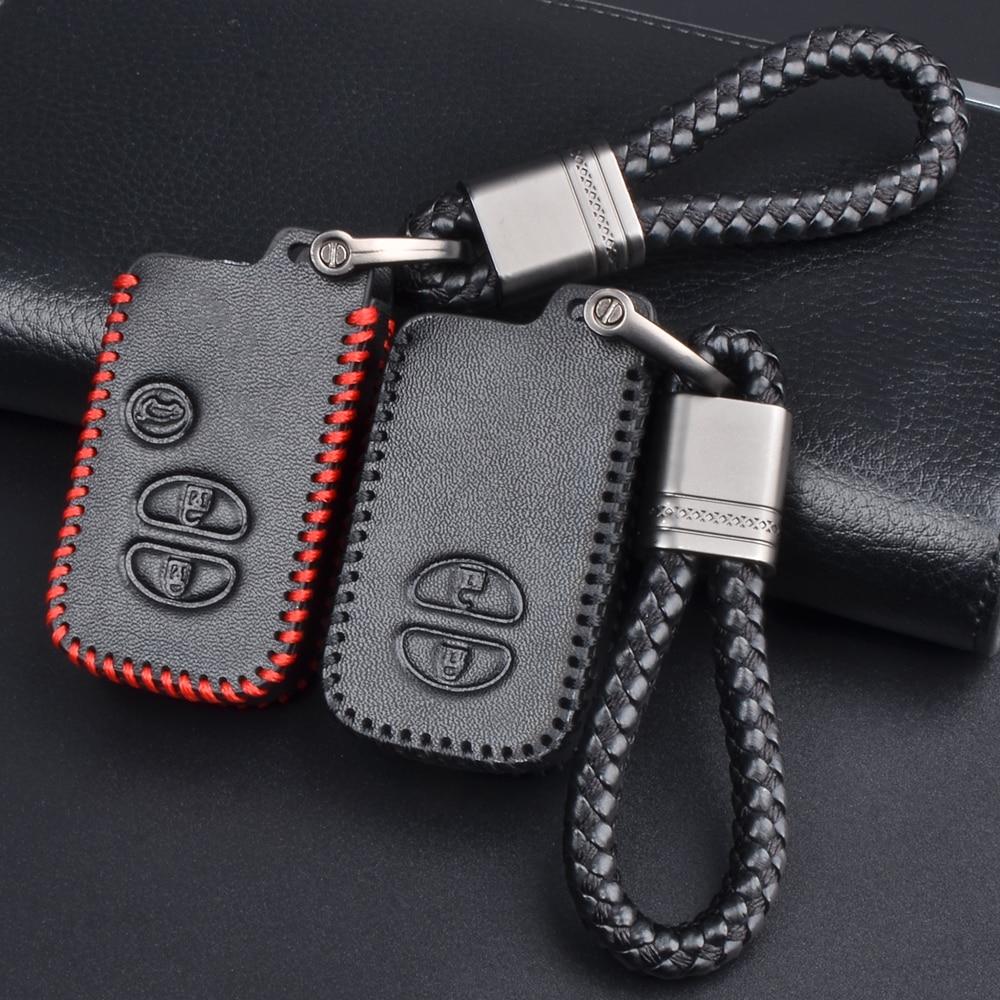 Кожаный чехол для автомобильных ключей, чехол КРЫШКА ДЛЯ Toyota Land Cruiser Prado 150 Camry Prius, Crown для Subaru Foreste XV для автомобильных ключей