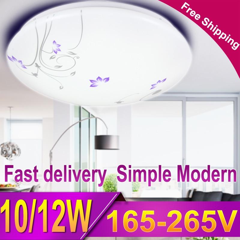 1 шт. современный светодиодный потолочный светильник для дома, потолочный светильник для гостиной, ванной, спальни, кухни 10 Вт 12 Вт 220 В