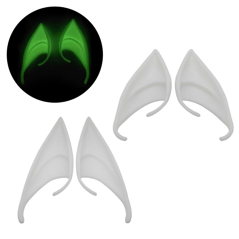 1/3/12 Pair  Latex Elf Ears Pointed Cosplay Mask Accessories Halloween LX9E