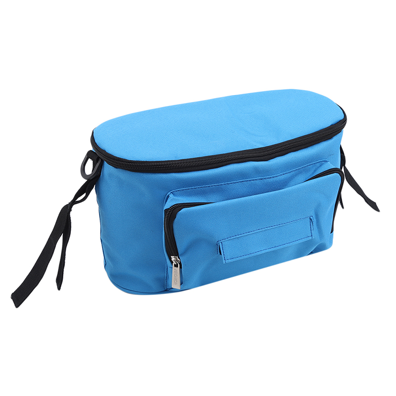 Solid Color Stroller Bags Organizer Large Capacity Mom Travel Hanging Bag Carriage Pram Cart Bag Stroller Accessories