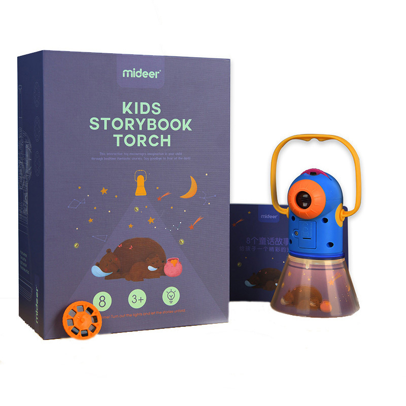 Portable Projector Light storybook Torch Toys Tales Book Set Baby Mini Theater Developmental Games Lantern Starry Sky Sleep Lamp image