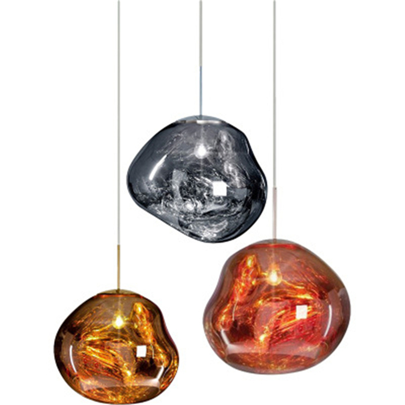 Postmodern Glass Chandelier Lustre Led Lava Chandelier Living Room Interior Lighting Hang Lamp
