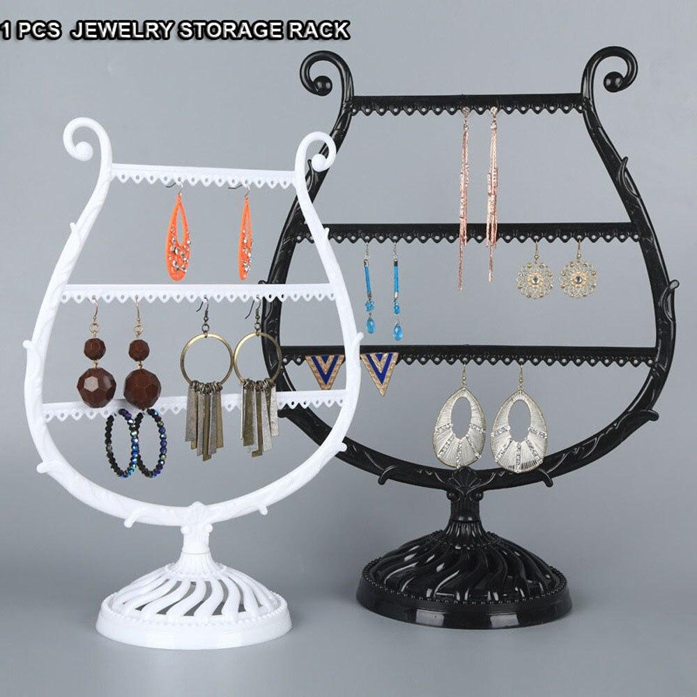 Antler Tree Shape Jewelry PP Organizer Plastic Jewelry Storage Rack Necklace Earrings Holder Display Stand Jewelry Storage Racks