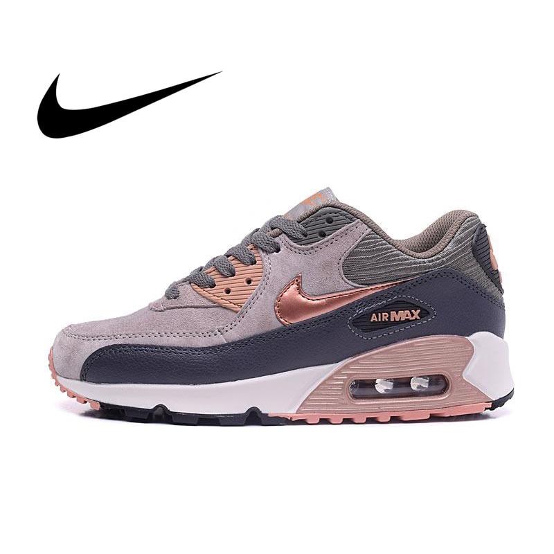 Original Authentic Nike AIR MAX 90 PREMIUM Women's Running Shoes Sport Outdoor Sneakers Athletic Designer Footwear 443817