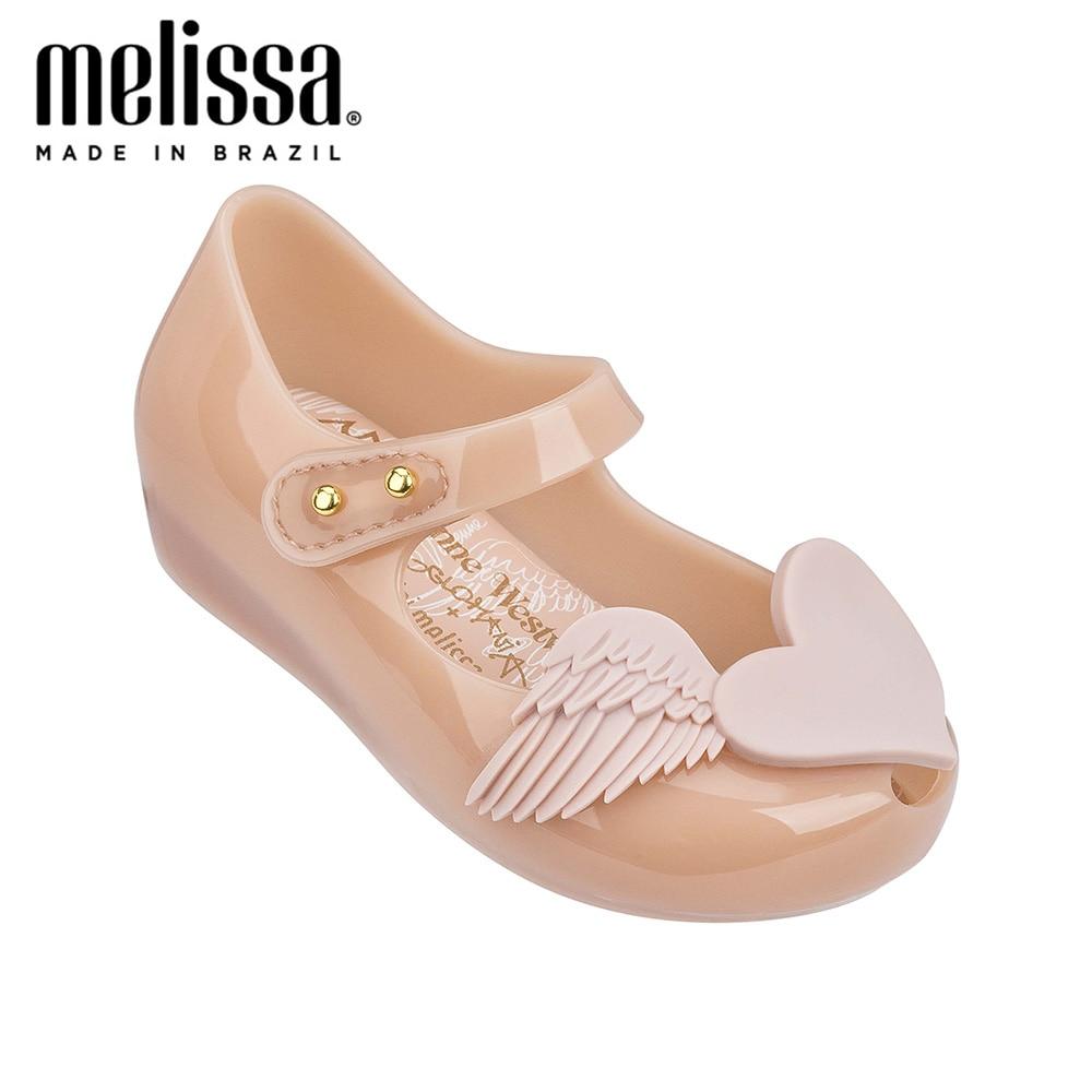 Mini Melissa Love Wings Girl Jelly Shoes Sandals 2020 Baby Shoes Melissa Sandals Non-slip Sandals Girls Zandalias Kids Shoes