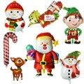 1 шт. рождественские фольгированные шары Санта Клаус Снеговик Гелий воздушные шары рождественские вечерние украшения для дома Новый год ...