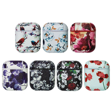 Vintage Flower Pattern Protective Hard Case Transparent Wireless Earphone Case For Iphone Cases For Airpods Cute Case Airpods стоимость