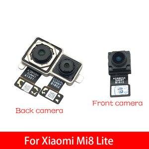 Image 2 - كاميرا خلفية خلفية وحدة الكابلات المرنة + الجبهة التي تواجه الكاميرا ل Xiao mi 8 mi 8 لايت استبدال