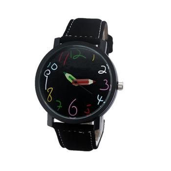 Couple Lover Fashion Wrist Watches Pencil Head Quartz Pointer Clock Students Gift Couple Watch  Fashion Watch For Lovers