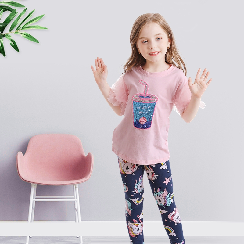 NNJXD Girls Clothing Set For Casual 2 Pcs Tops and Leggings for Girls 3-8T Cotton Casual Wear Children Clothing Kids Outfits