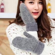 Women's Cute Winter Solid Color Warm Wool Gloves Even Refers To Women's Super Warm Wool Fingerless Winter Gloves цена 2017