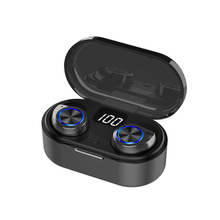 2020 TW60 TW80 TWS Wireless Earphone Bluetooth HiFi Stereo Headset Volume touch control LED display mini Earbuds for women girl